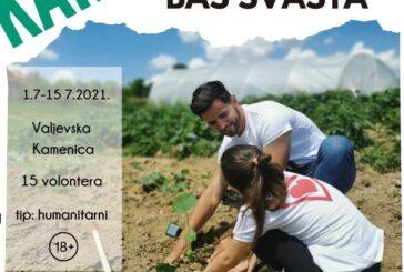 """Volonterski humanitarni kamp na organskom imanju """"Organela"""" 1-15. jula"""